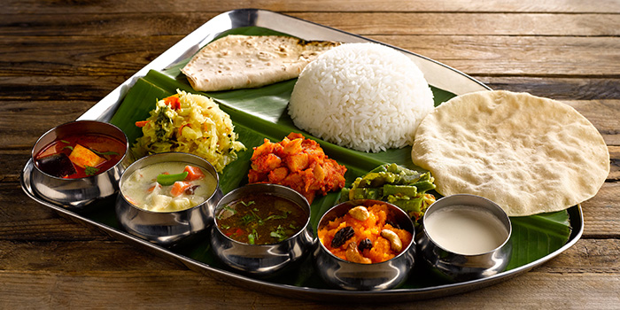 Vegetarian Set Meal from Pavilion Banana Leaf at Jurong Point Shopping Mall in Jurong, Singapore