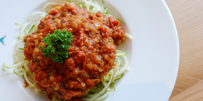Zucchini Pasta Bolognese from Broccoli Revolution @Central Embassy at Central Embassy, Bangkok