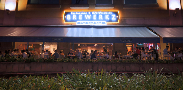 Exterior of Brewerkz Riverside Point in Clarke Quay, Singapore
