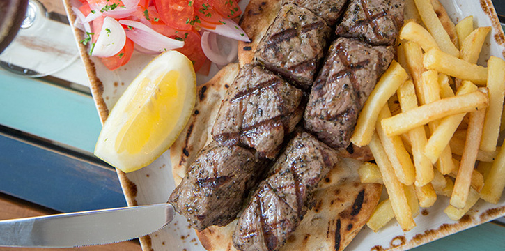 Beef Souvlaki from Bakalaki Greek Taverna on Seng Poh Road in Tiong Bahru, Singapore
