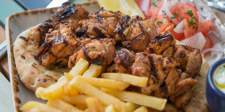 Chicken Souvlaki from Bakalaki Greek Taverna on Seng Poh Road in Tiong Bahru, Singapore