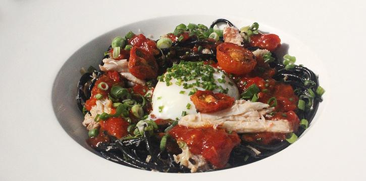 Chilli Crab Squid Ink Pasta from Saveur (Purvis) in Bugis, Singapore