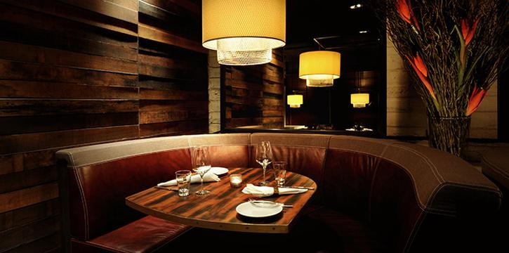 Curved Booth Seat of Bedrock Bar & Grill in Pan Pacific Serviced Suites Orchard in Orchard, Singapore