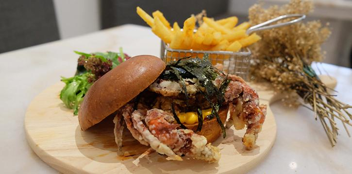 Soft Shell Crab Burger from Yummo Chow in Hotel NuVe Heritage in Bugis, Singapore