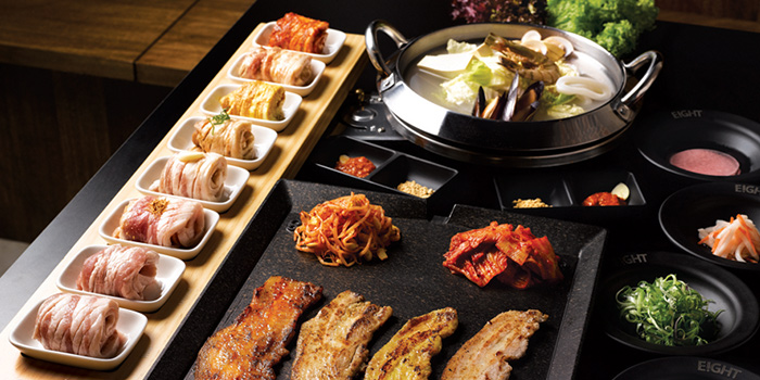 8 Colour Set from 8 Korean BBQ (The Central) in Clarke Quay, Singapore
