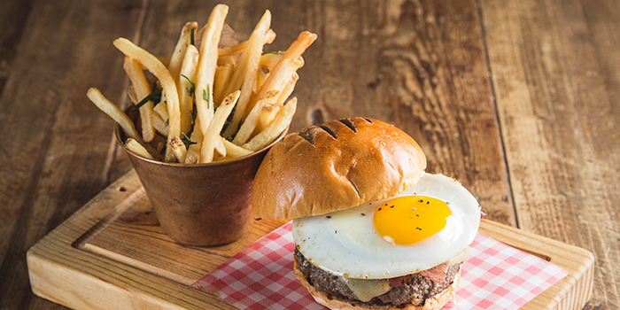 Signature Burger, Jamie's Italian, Tsim Sha Tsui, Hong Kong