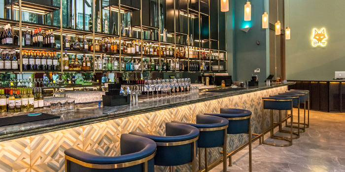 Bar Counter of CIN CIN in Oasia Hotel Downtown in Tanjong Pagar, Singapore