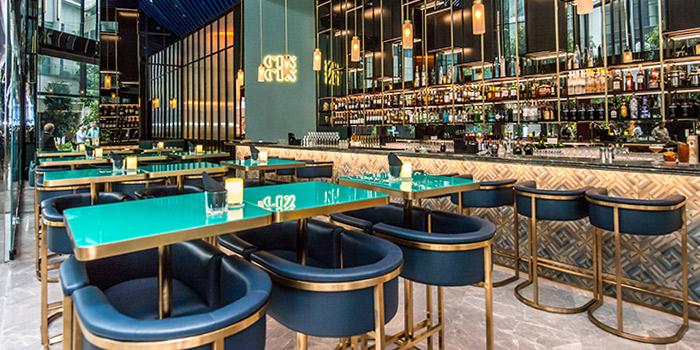 Interior of CIN CIN in Oasia Hotel Downtown in Tanjong Pagar, Singapore
