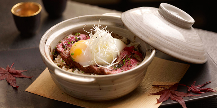 Wagyu Claypot Donburi from Fat Cow at Camden Medical Centre in Tanglin, Singapore