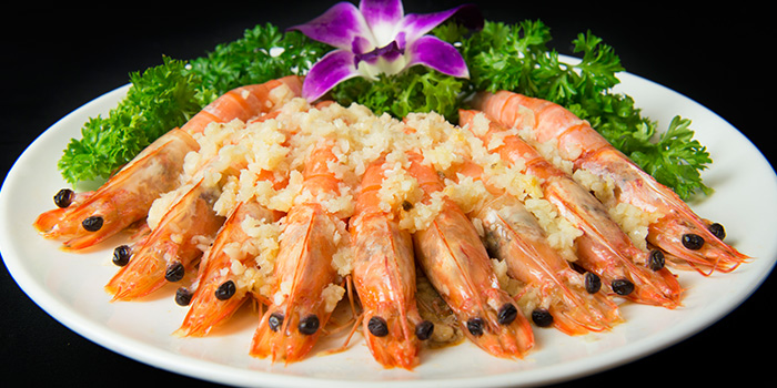 Garlic Steam Prawns from House of Seafood (Upper Serangoon) in Serangoon, Singapore
