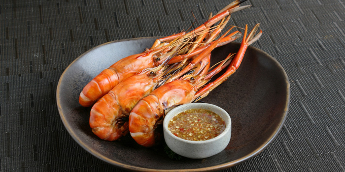 Grilled River Prawns from Mango Tree Surawong in Surawong Road, Bangkok