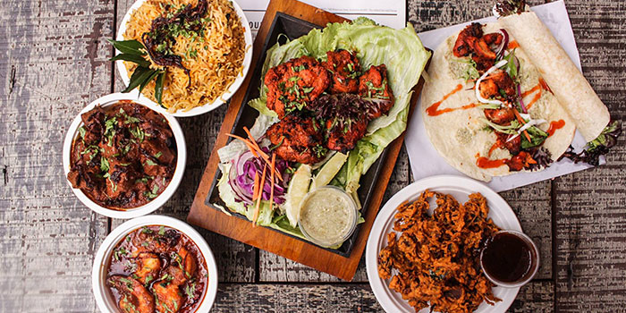 Food Spread from Indline Restaurant in Chinatown, Singapore