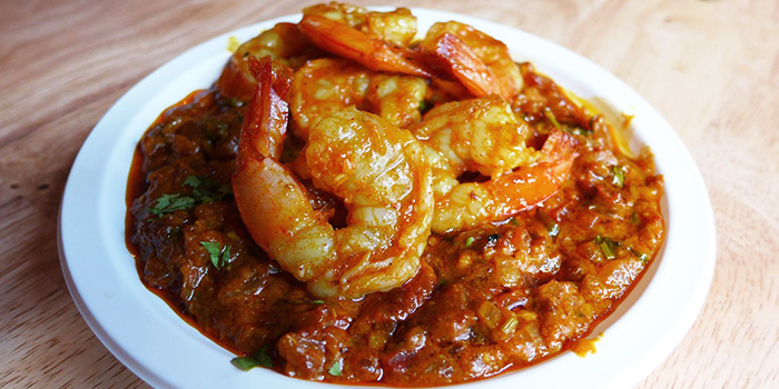 Prawn Curry from Indline Restaurant in Chinatown, Singapore
