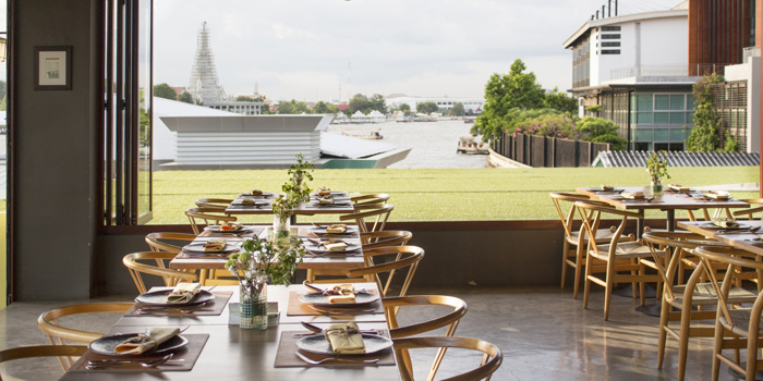 Indoor Dining Area from Mango Tree On The River at Yodpiman River Walk Shopping Paradise