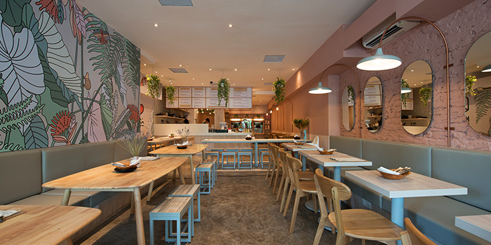 Interior of KARA Cafe & Dessert Bar in Bukit Timah, Singapore