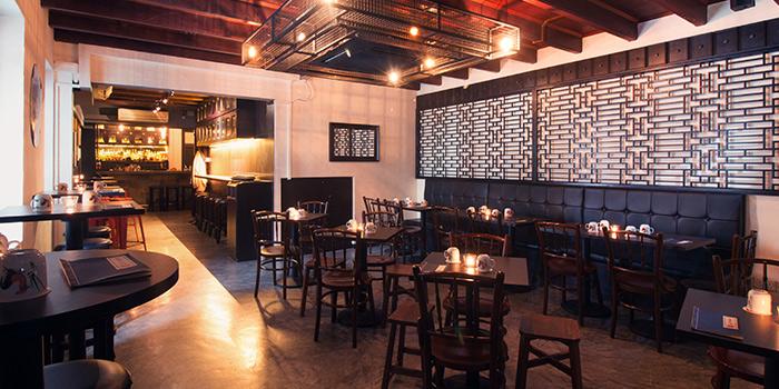 Interior at Nutmeg & Clove on Club Street at Tanjong Pagar, Singapore