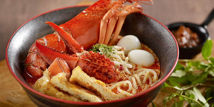 Laksa from Straits Cafe at Rendezvous Hotel in Dhoby Ghaut, Singapore