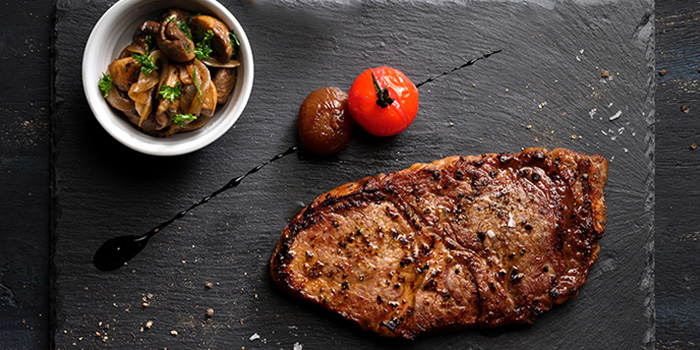 Grain Fed Ribeye Steak from Se7enth at OUE Downtown 1 in Tanjong Pagar, Singapore