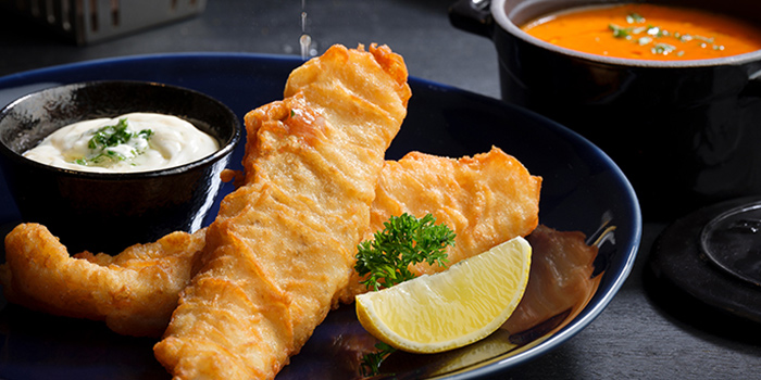 Fish & Chips from Se7enth at OUE Downtown 1 in Tanjong Pagar, Singapore