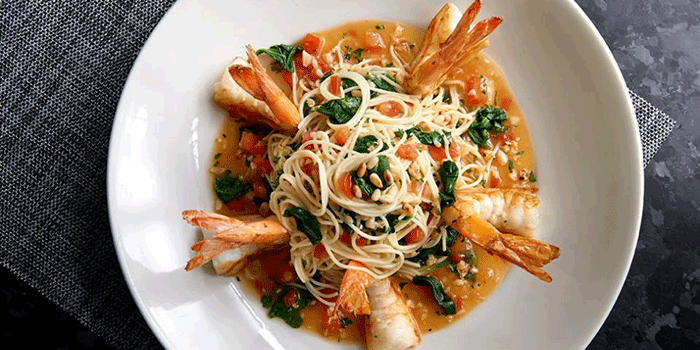 Shrimp Scampi Capellini, Morton