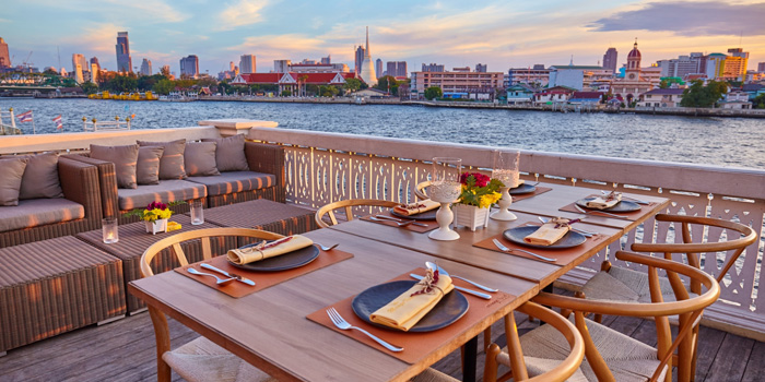 Table By The River from Mango Tree On The River at Yodpiman River Walk Shopping Paradise