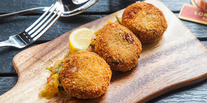 Homemade Crab Cakes from The Fine Line in Holland Village, Singapore