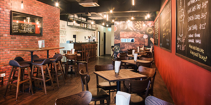 Interior of The Fine Line in Holland Village, Singapore
