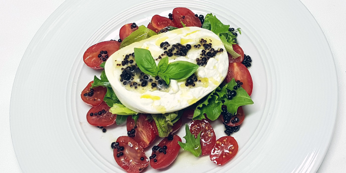 Burrata Datterini from Ristorante Da Valentino Singapore at The Grand Stand in Bukit Timah, Singapore