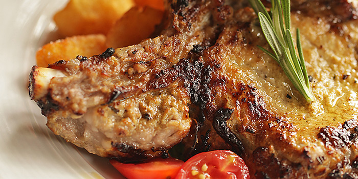 Pork Chop from Ristorante Da Valentino Singapore at The Grand Stand in Bukit Timah, Singapore