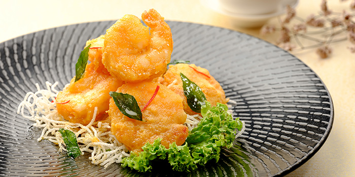 Salted Egg Prawn from WOK15 Kitchen in Sentosa, Singapore