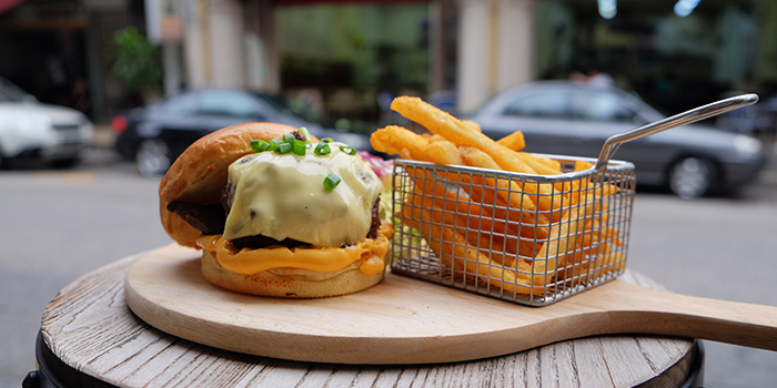 Beef Burger from Yummo Chow in Hotel NuVe Heritage in Bugis, Singapore