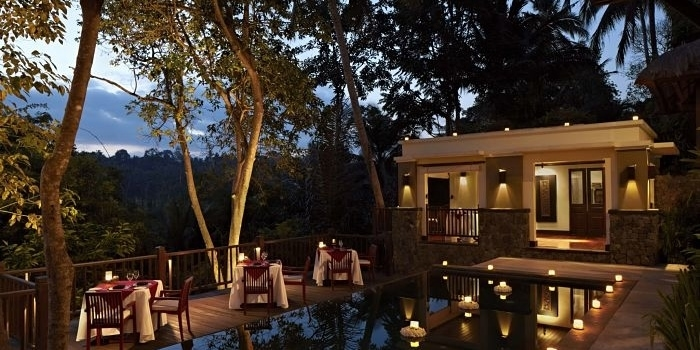 Evening Setting at Dining Corner, Bali
