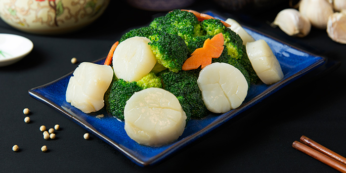 Scallop and Broccoli from House of Seafood (Upper Serangoon) in Serangoon, Singapore