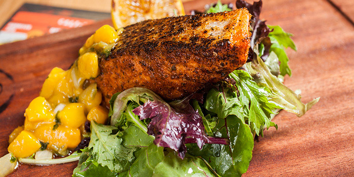 Atlantic Grilled Salmon, Cali-Mex Bar and Grill, Sai Kung, Hong Kong