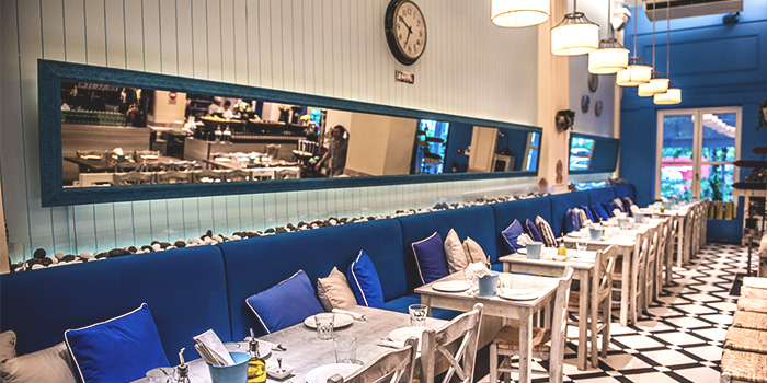 Dining Area of Blu Kouzina in Dempsey, Singapore