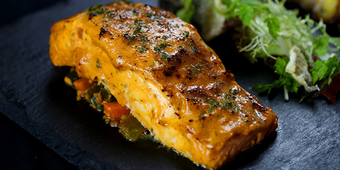 Baked Creamy Kaffir Lime Salmon from Barnacles at Customs House in Fullerton, Singapore
