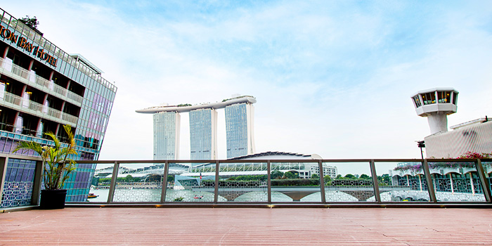 Outdoor Area of Barnacles at Customs House in Fullerton, Singapore