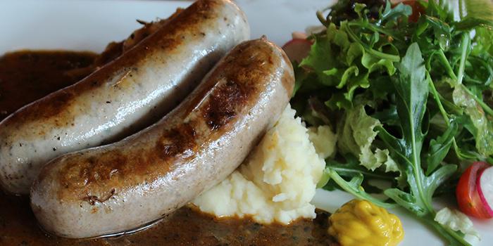 Bratwurst from Bodacious at Biopolis in Bouna Vista, Singapore