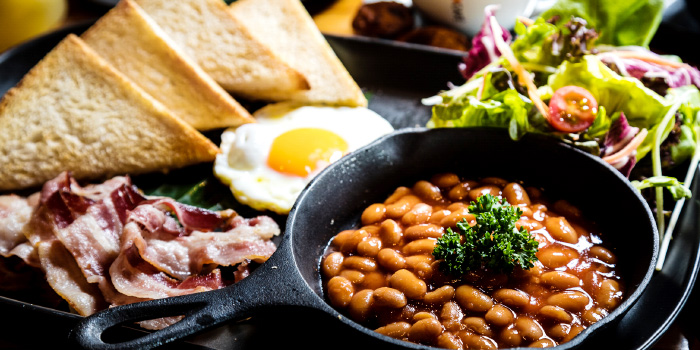 English Breakfast from Little Paris Phuket Restaurant in Cherngtalay, Phuket, Thailand.