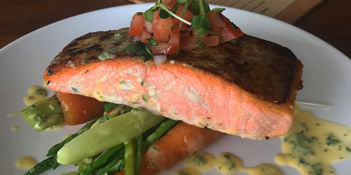 Grilled Salmon, Padstow Restaurant & Bar, Sai Kung, Hong Kong