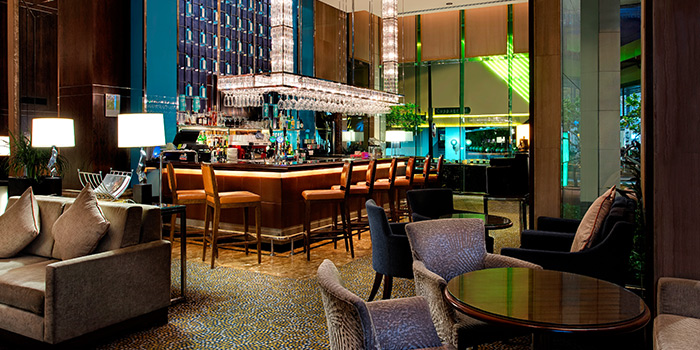 Interior of Lobby Lounge & Bar at Holiday Inn Singapore Orchard City Centre in Orchard, Singapore
