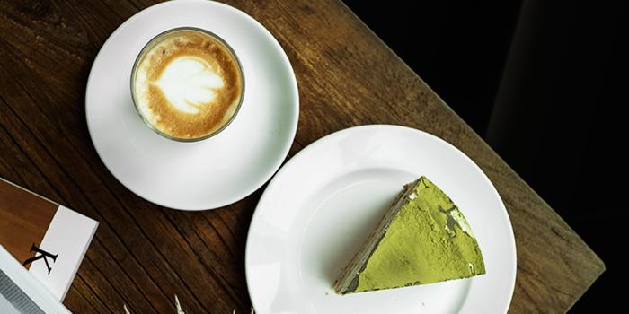 Matcha Cake & Latte from Kith Cafe (Bukit Timah) in Bukit Timah, Singapore