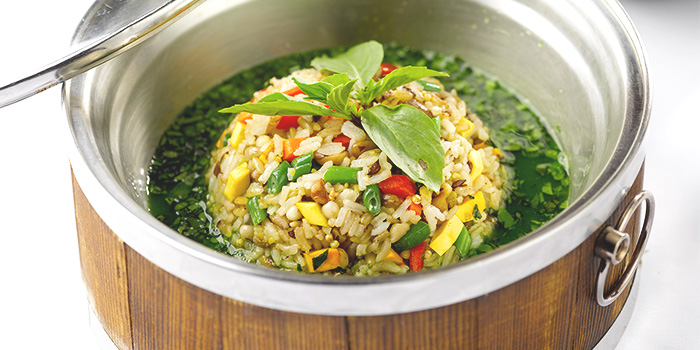 Poached Mixed Rice with Vegetables from LingZhi Vegetarian (Velocity @ Novena Square) in Novena, Singapore