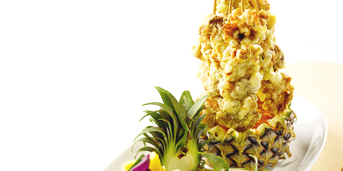 Vegetarian Satay Served in Fresh Pineapple from LingZhi Vegetarian (Velocity @ Novena Square) in Novena, Singapore