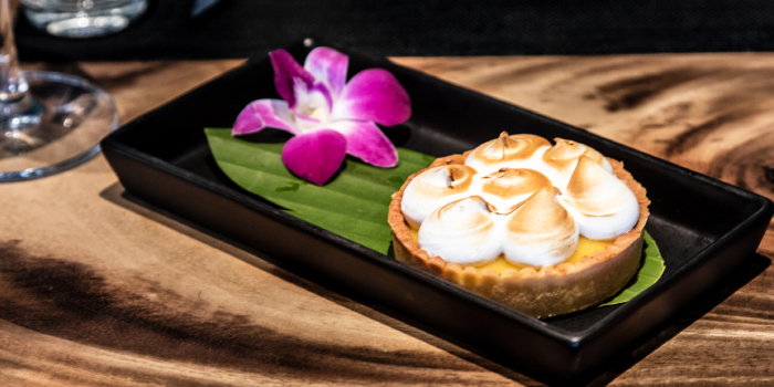 Lemon Meringue Pie from Little Paris Phuket Restaurant in Cherngtalay, Phuket, Thailand.