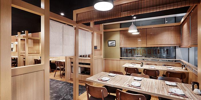 Interior of Nanbantei Japanese Restaurant (Chinatown Point) in Chinatown, Singapore