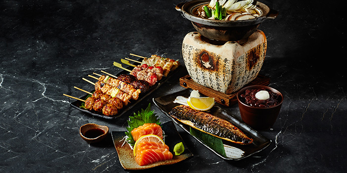 Food Spread from Nanbantei Japanese Dining in Orchard, Singapore