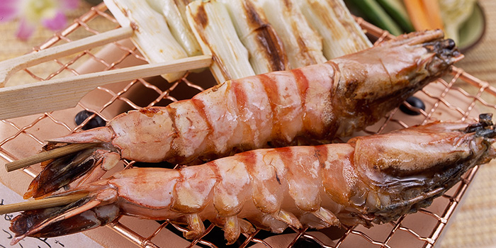 Prawn Skewers from Nanbantei Japanese Restaurant (Chinatown Point) in Chinatown, Singapore