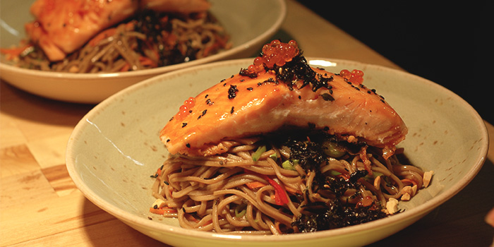 Salmon Soba from Old Hen Kitchen in Little India, Singapore