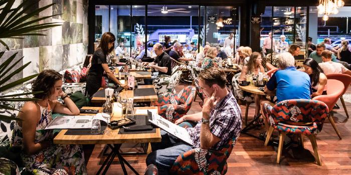 Restaurant Ambiance of Restaurant Atmosphere of Little Paris Phuket Restaurant in Cherngtalay, Phuket, Thailand.